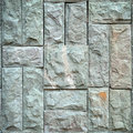 Stone tile pattern on wall Royalty Free Stock Photo