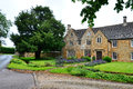 Stone tiled Cotswold cottages Royalty Free Stock Photography