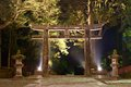Stone tori gate in nikko japan the ishidori is a Royalty Free Stock Image