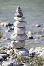 A Stone Tower In Nature