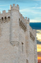 Stone tower of Penafiel Castle, Stock Photos