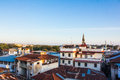 Stone town rooftops view over the in stonetown zanzibar in tanzania Royalty Free Stock Image