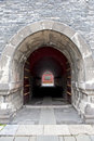Stone tunnel in Shenyang Forbidden City Stock Image