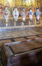 The Stone of Unction - Anointing in the Jesus Tomb Stock Image