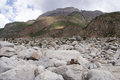 Stone the view of laigu glacier nyingchi china Stock Images