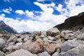 Stone the view of laigu glacier nyingchi china Stock Photo
