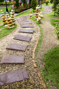 Stone walkway beautiful in the park Royalty Free Stock Photos