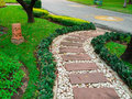 Stone walkway in garden thailand Royalty Free Stock Photography