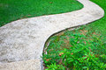 Stone walkway in the park national thailand Royalty Free Stock Photo