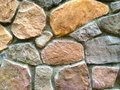 Stone wall abstract simple image of a with stocked rocks and concrete Stock Photos