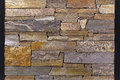 Stone wall close up shot of rough tiles Stock Images