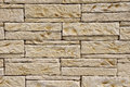 Stone wall closeup new in sunny day Royalty Free Stock Photography