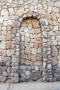 Stone wall with corbel arch Royalty Free Stock Photo