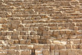 Stone wall of Egyptian pyramids in Giza, close up Royalty Free Stock Photo