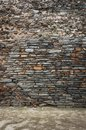 Stone wall with floor background Stock Image