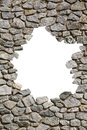 Stone wall frame with empty hole png available a of white space in the middle brick rocks Stock Photos