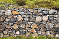 Stone Wall at Giants Causeway Royalty Free Stock Photo