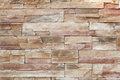 Stone wall made with blocks Royalty Free Stock Photo