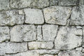 Stone wall made up from different sizes of limestones Royalty Free Stock Photo