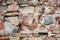 Stone wall made of a variety of rocks and bricks Royalty Free Stock Photo