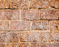 Stone wall made of volcanic pumice rock Royalty Free Stock Photo