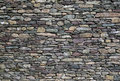 Stone wall of mixed slate Royalty Free Stock Photo