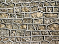 Stone wall reinforced cement Royalty Free Stock Photography