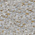 Stone wall seamless tileable texture old weathered Stock Image