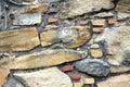 Stone wall of spanish mission espada in san antonio texas Stock Images