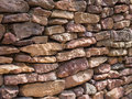 Stone wall stack of background Royalty Free Stock Photography