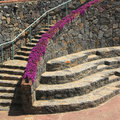 Stone wall and stairs Royalty Free Stock Photos