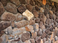 Stone wall texture made rocks from nature Royalty Free Stock Photo