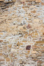 Stone wall texture of a medieval fortress Stock Photos