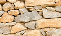Stone wall texture with stones piled Royalty Free Stock Image