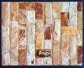Stone wall texture,travertine tiles facing stone Royalty Free Stock Photo
