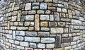 Stone wall using fish eye lens
