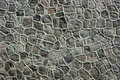 Stone wall a very geometric with many shapes Royalty Free Stock Image