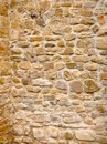 Stone walls an ancient made by hand from an italian church Stock Photography