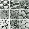 Stone walls and pavements collage Royalty Free Stock Image