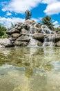 Stone watefall fountain Royalty Free Stock Photo