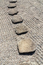 Stone way vertical Royalty Free Stock Photo