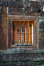 Stone Window of Angkor Wat Royalty Free Stock Photo