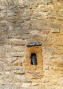 Stone window dating from the seventh century ad a carved out of a block of at the west end of the anglo saxon christian church of Stock Photos