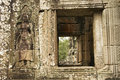 Devata and Window, Bayon Temple, Angkor Wat, Cambodia Royalty Free Stock Photo