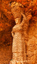 Stone Woman Antoni Gaudi Guell Park Barcelona Catalonia Spain Royalty Free Stock Image