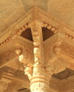 Stone work in amber fort beautiful columns jaipur india Royalty Free Stock Photos