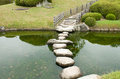 Stone zen path Stock Photos