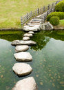 Stone zen path Royalty Free Stock Photo
