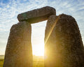 Stonehenge Arch at Dawn Royalty Free Stock Photo