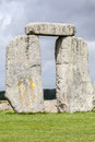 Stonehenge archaeological site england detail of the prehistoric monument with its stones in a circular shape wiltshire Stock Photos